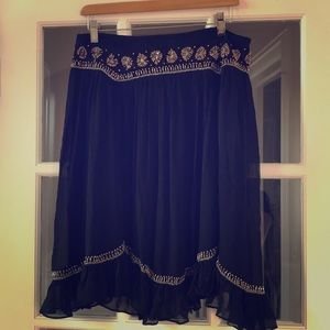 French Connection Beaded skirt